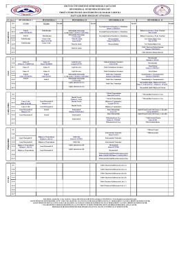 2015-2016 Bahar Dönemi Örgün Öğretim Ders Programı