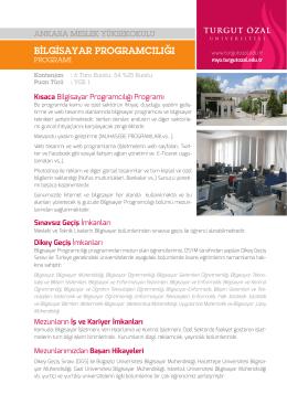 bilgisayar programcılığı - Ankara Meslek Yüksekokulu