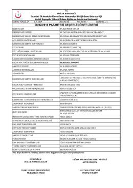 08.02.2016 - Kartal Koşuyolu Yüksek İhtisas Eğitim ve Araştırma