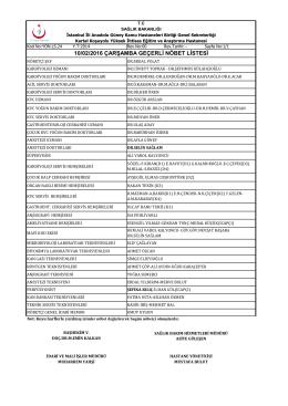 10.02.2016 - Kartal Koşuyolu Yüksek İhtisas Eğitim ve Araştırma