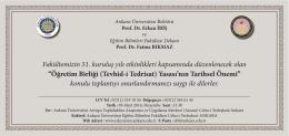 EĞİTİM BİLİMLERİ FAKÜLTESİ 51.KURULUŞ YILDÖNÜMÜ
