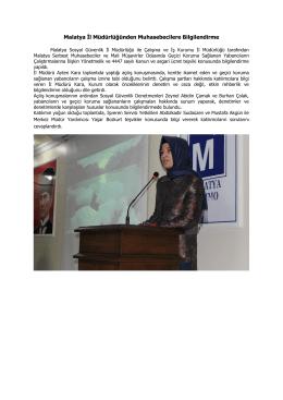 Malatya İl Müdürlüğünden Muhasebecilere Bilgilendirme