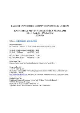 kamu ihale mevzuatı sertifika programı - bedam