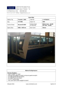 TRUMATIC L3050 TLF 5000