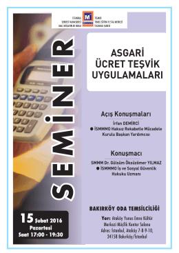 seminer - İstanbul SMMM Odası