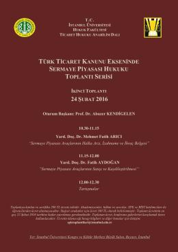 Afişi İçin Tıklayınız… - İstanbul Üniversitesi | Hukuk Fakültesi