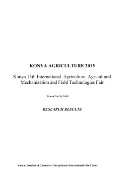 fair report - konya agriculture