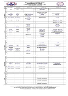 2015-2016 Bahar Dönemi Ders Programı İkinci Öğretim