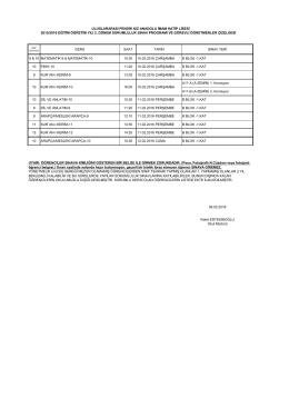 sorumluluk sınavları 2015/2016 2. dönem sınav takvimi