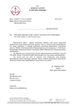 TC - Burdur İl Milli Eğitim Müdürlüğü