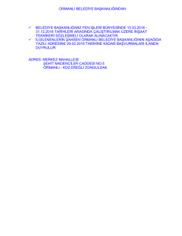 31.12.2016 tarihleri - euygulama.dpb.gov.tr