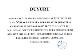 duyuru - Kocaeli Üniversitesi Hukuk Fakültesi