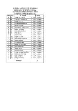 7/f liste - BARTIN / MERKEZ