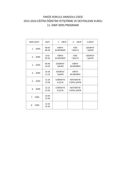 pakize kokulu anadolu lisesi 2015-2016 eğitim öğretim yetiştirme ve
