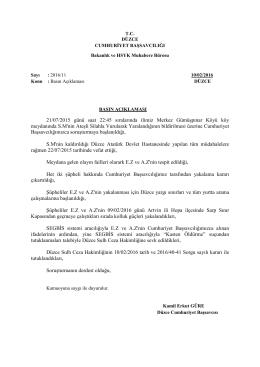 Düzce Adliyesi Basın Açıklaması 11