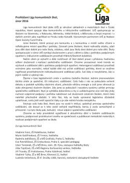 Prohlášení Ligy komunitních škol