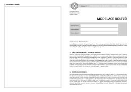 modelace boltců - Fakultní nemocnice Hradec Králové