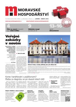 Veřejné zakázky v novém - Moravské hospodářství