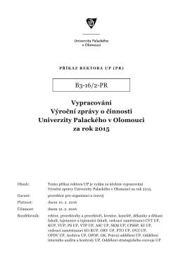 B3-16/2-PR - Univerzita Palackého v Olomouci