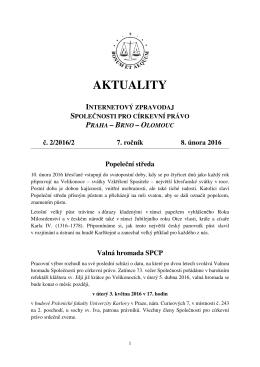 AKTUALITY - Česká křesťanská akademie