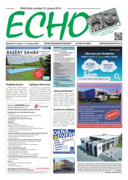 Příští Echo vychází 19. února 2016