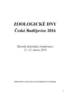 Sborník - Zoologické dny