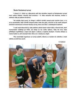 Školní florbalový turnaj