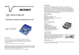 Multifunkční modelářská nabíječka RS16 Obj. č.: 121 15 80