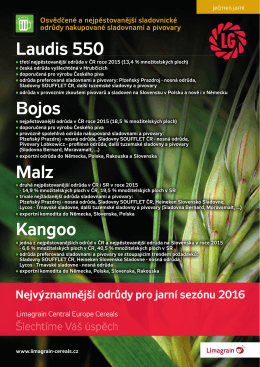 Jarní sezona s odrůdami Limgrain Central Europe Cereals