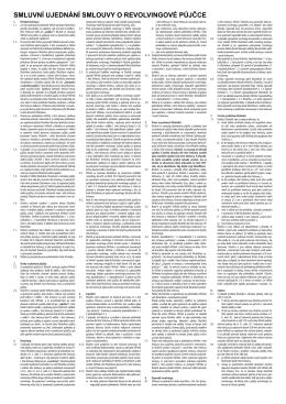 Smluvní ujednání - uvery
