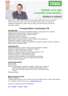 Transportation coordinator CE