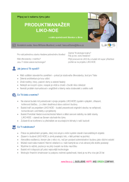 produktmanažer liko-noe - LIKO-S