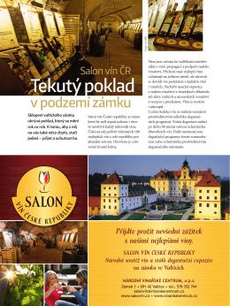 Tekutý poklad - Moravia magazín