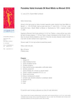 PDF dokument s pozvánkou