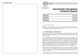 Odstranění kožního nádoru - Fakultní nemocnice Hradec Králové