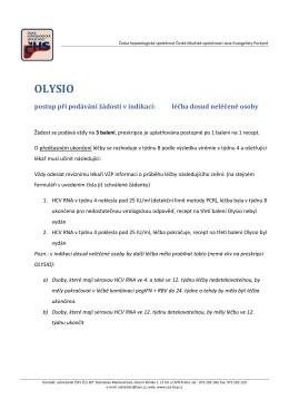 olysio - Česká hepatologická společnost