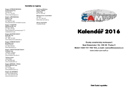 Kalendá   2016 - ČAM | Český amatérský motosport