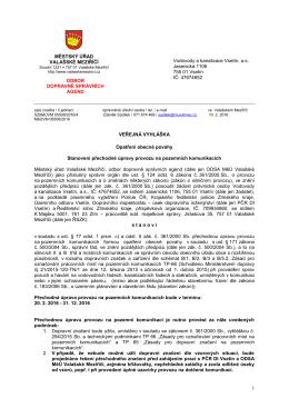 Veřejná vyhláška - Obec Střítež nad Bečvou