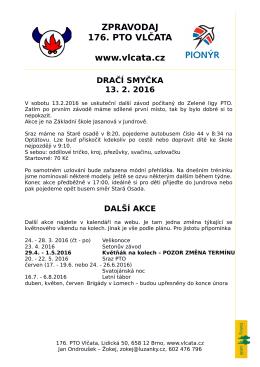 další akce - 176. PTO Vlčata Bystrc