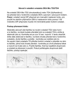 DEA TD2_4 návod - Vseprovrata.cz