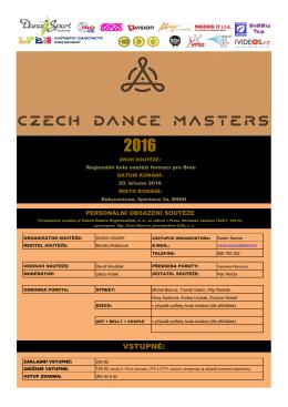 PROPOZICE – Brno - Czech Dance Organization