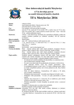TFA Metylovice 2016 - SDH