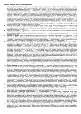 B) Obecná ustanovení smlouvy o revolvingovém - uvery