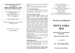 1. oznámení - Česká vědeckotechnická vodohospodářská společnost