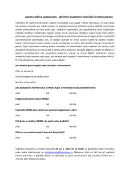 anketa města harrachov - městský kamerový dohlížecí systém (mkds)