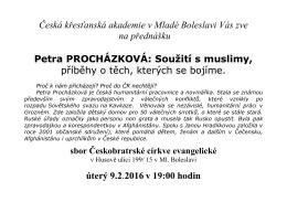 KA_plakatek - Souziti s muslimy - Sbor Jednoty bratrské v Mladé