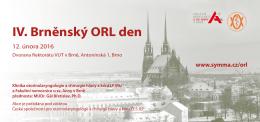 IV. Brněnský ORL den - pozvánka
