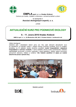 aktualizační kurz pro podnikové ekology