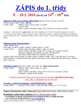 Podrobné pokyny k zápisu 2016 ve formátu pdf.
