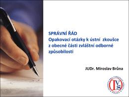 opakovací otázky - správní řád - Institut pro veřejnou správu Praha